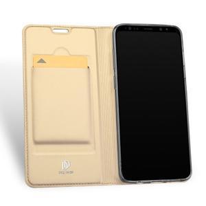 DUX Luxury PU kožené pouzdro na Samsung Galaxy S9 - zlaté - 3