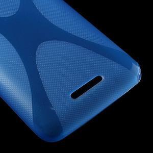 Gelový x-line obal na Sony Xperia E4 - modrý - 3