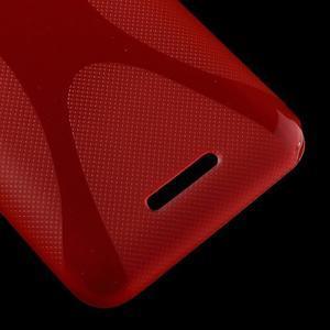 Gelový x-line obal na Sony Xperia E4 - červený - 3