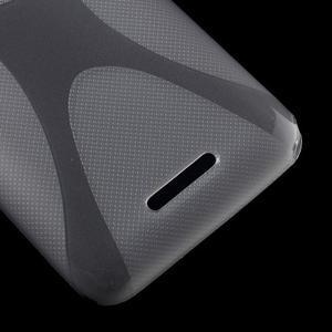 Gelový x-line obal na Sony Xperia E4 - šedý - 3