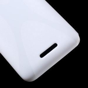 Gelový x-line obal na Sony Xperia E4 - bílý - 3