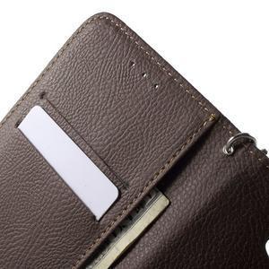 PU kožené lístkové pouzdro pro Sony Xperia E4 - rose - 3