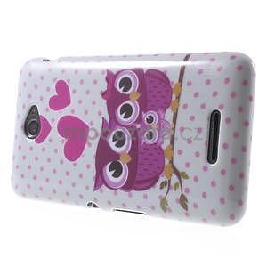 Gelový obal Sony Xperia E4 - zamilované sovičky - 3