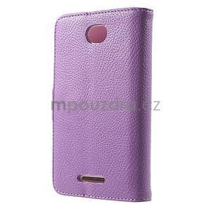 Koženkové pouzdro pro Sony Xperia E4 - fialové - 3