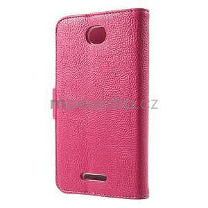 Koženkové pouzdro pro Sony Xperia E4 - rose - 3