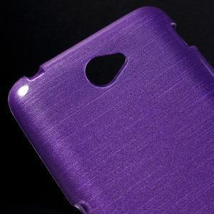 Broušený gelový obal pro Sony Xperia E4 - fialový - 3