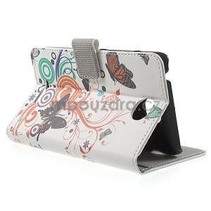 Peněženkové pouzdro na Sony Xperia E4 - barevní motýlci - 3