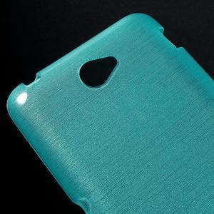 Broušený gelový obal pro Sony Xperia E4 - tyrkysový - 3