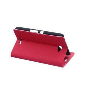 Vzorované pěněženkové pouzdro na Sony Xperia E4 - červené - 3