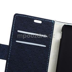 Vzorované pěněženkové pouzdro na Sony Xperia E4 - tmavě modré - 3
