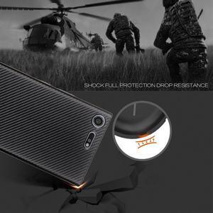 Fiber gelový obal na Sony Xperia XZ Premium - zlatý - 3