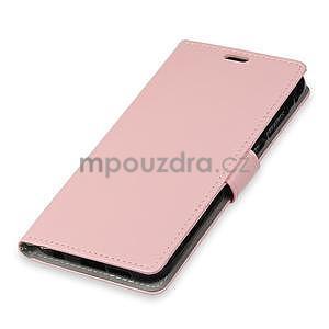Crazy PU kožené zapínací pouzdro na Xiaomi Redmi Note 5A Prime - růžové - 3