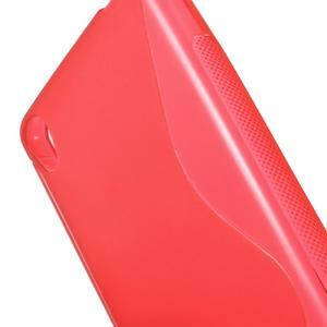 S-line gelový obal na mobil Sony Xperia E5 - červený - 3