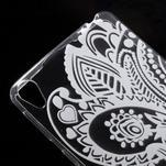 Ultratenký gelový obal na Sony Xperia E5 - květina - 3/5