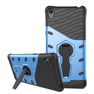 Armory odolný obal se stojánkem na Sony Xperia E5 - modrý - 3