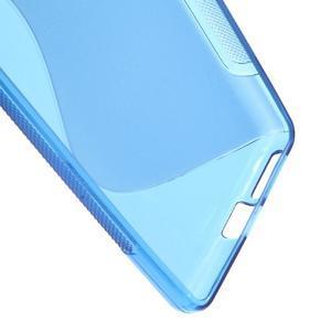 S-line gelový obal na mobil Sony Xperia E5 - modrý - 3