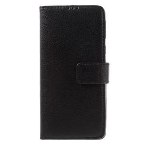 Leathy PU kožené pouzdro na Sony Xperia E5 - černé - 3