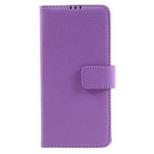 Leathy PU kožené pouzdro na Sony Xperia E5 - fialové - 3