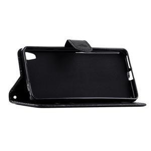 Motýlkové PU kožené pouzdro na mobil Sony Xperia E5 - černé - 3
