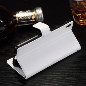 Horss PU kožené pouzdro na Sony Xperia E5 - bílé - 3
