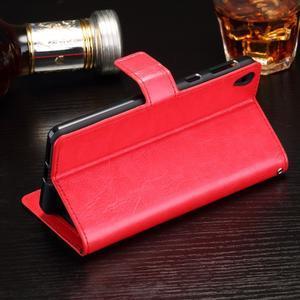 Horss PU kožené pouzdro na Sony Xperia E5 - červené - 3