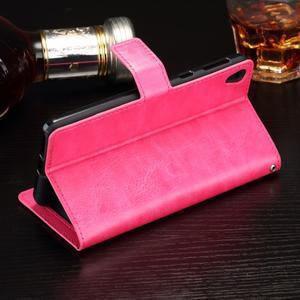 Horss PU kožené pouzdro na Sony Xperia E5 - rose - 3