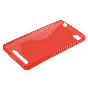 S-line gelový obal na mobil Xiaomi Mi4c/Mi4i - červený - 3