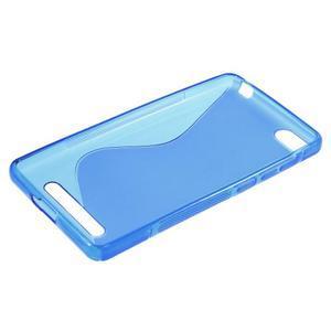 S-line gelový obal na mobil Xiaomi Mi4c/Mi4i - modrý - 3