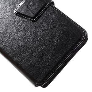 Horn PU kožené pouzdro na Xiaomi Redmi 3 Pro - černé - 3