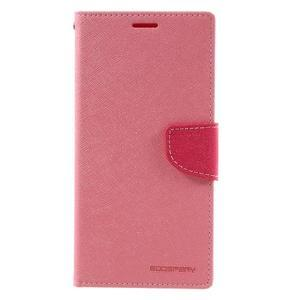 Diary PU kožené pouzdro na mobil Sony Xperia XA Ultra - růžové - 3