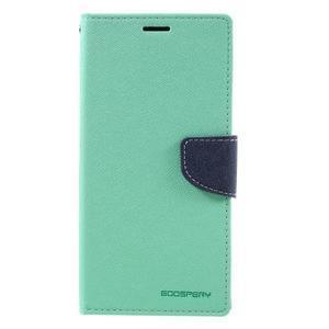 Diary PU kožené pouzdro na mobil Sony Xperia XA Ultra - azurové - 3