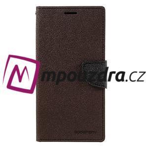 Diary PU kožené pouzdro na mobil Sony Xperia XA Ultra - hnědé - 3