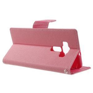 Diary PU kožené pouzdro na mobil Asus Zenfone 3 Deluxe - růžové - 3