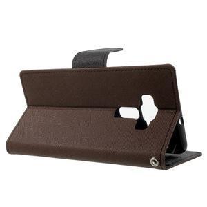 Diary PU kožené pouzdro na mobil Asus Zenfone 3 Deluxe - hnědé - 3