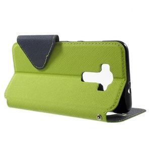 Diary pouzdro s okýnkem na mobil Asus Zenfone 3 ZE520KL - zelené - 3