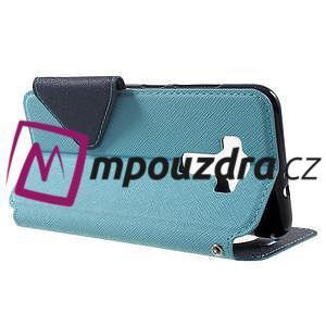 Diary pouzdro s okýnkem na mobil Asus Zenfone 3 ZE520KL - světlemodré - 3