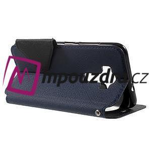 Diary pouzdro s okýnkem na mobil Asus Zenfone 3 ZE520KL - tmavěmodré - 3