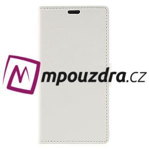 Leathy peněženkové pouzdro na Asus Zenfone 3 ZE520KL - bílé - 3