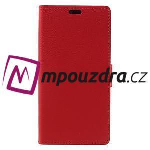 Leathy peněženkové pouzdro na Asus Zenfone 3 ZE520KL - červené - 3