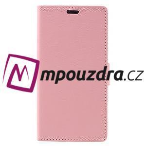 Leathy peněženkové pouzdro na Asus Zenfone 3 ZE520KL - růžové - 3