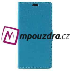 Leathy peněženkové pouzdro na Asus Zenfone 3 ZE520KL - světlemodré - 3