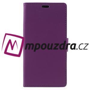 Leathy peněženkové pouzdro na Asus Zenfone 3 ZE520KL - fialové - 3