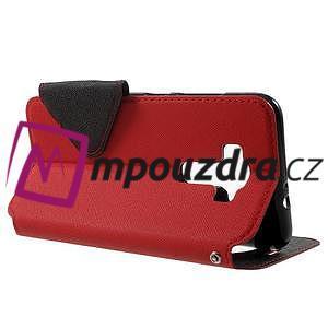 Diary pouzdro s okýnkem na mobil Asus Zenfone 3 ZE520KL - červené - 3