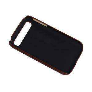 PU kožený kryt se stojánkem na BlackBerry Classic - hnědé - 3