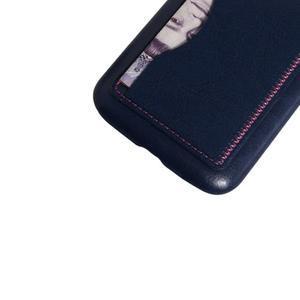 PU kožený kryt se stojánkem na BlackBerry Classic - modré - 3