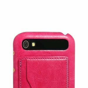 PU kožený kryt se stojánkem na BlackBerry Classic - rose - 3