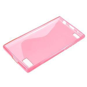 S-line gelový obal na mobil BlackBerry Leap - rose - 3