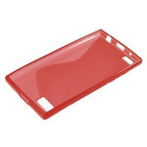 S-line gelový obal na mobil BlackBerry Leap - červený - 3