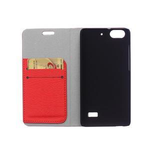Peněženkové pouzdro na mobil Honor 4C - červené - 3