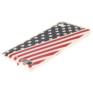 Gelový obal na mobil Honor 4C - americká vlajka - 3